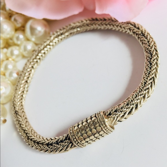 Made in Bali, Indonesia Other - Balinese Snake Skin Weave Chain Bracelet for Men